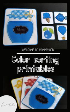 Color sorting for toddlers by Welcome to Mommyhood #homeschool, #earlylearning…