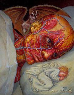 Alex Grey - Pictify - your social art network Alex Grey, Alex Gray Art, Grey Art, Psychadelic Art, Sacred Geometry Tattoo, Arte Obscura, Arte Pop, Visionary Art, Surreal Art