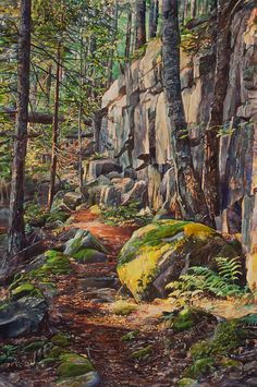 Marjorie Glick Artist Blog: Forest Watercolor finished!