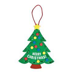 Lacing Christmas Tree Craft Kit - OrientalTrading.com