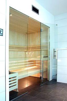 Glasfront-Sauna, luxuriös, design, transparent Sauna Steam Room, Sauna Room, Saunas, Mini Sauna, Infrarot Sauna, Design Transparent, Sauna Design, Décor Boho, Home Spa