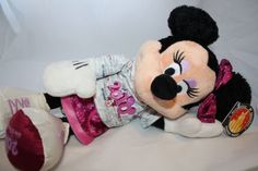 """Rare Disney Minnie Mouse 16"""" Plush 2010 Hoodie Mickey Mouse Donald Goofy #Gifts"""
