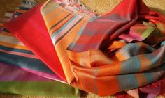Buy silk, chiffon, cashmere or wool shawls for both women and men exclusively from Le Patio. Beige Color, Silk Chiffon, Urban Fashion, Shawls, Plaid Scarf, Cashmere, Scarves, Peach, Indian