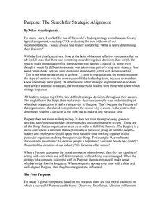 """#ΝίκοςΜουρκογιάννης: 'Αρθρο """"Purpose- Τhe search for strategic alignment"""""""