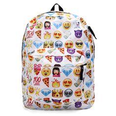 Women Canvas Emoji Backpack Girls Cute Rucksack Students School Book Bags  Emoji Backpack 7eaf79e4d39bd