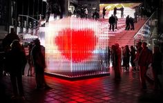 I don't think it's real.  Giant heart measures love in NY.