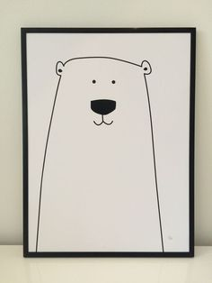 Den meget populære isbjørne plakat er nu at finde hos BY LUX - passer perfekt… Doodle Drawings, Doodle Art, Art Wall Kids, Art For Kids, Collage Poster, Painting & Drawing, Watercolor Paintings, Motifs Animal, Poster Design