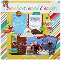 Summer Fun - Scrapbook.com - Made with Good Day Sunshine collection by Simple Stories