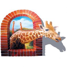 Fashionable Deer Pattern Removable 3D Wall Sticker For Home Decor
