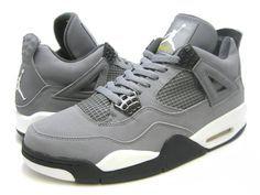 Grey Jordan 4's