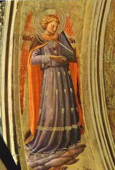 "Fra Beato Angelico ""Musician Angel c.1400's Fresco"