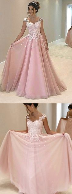 Pink Appliques Prom Dress,Long Prom Dresses,Charming Prom Dresses,Evening Dress Prom Gowns, Formal Women Dress · HerDresses · Online Store Powered by Storenvy Prom Dresses Long Pink, Chiffon Evening Dresses, Formal Dresses For Women, Ball Dresses, Pretty Dresses, Ball Gowns, Dress Long, Dresses 2016, Bridesmaid Dresses