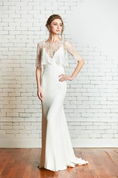 Rebecca Schoneveld Bridal | Tali lace crop top with the Calista Gown