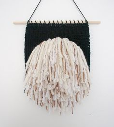 Shaggy Sparkler Weaving | Hand Woven Wall Hanging by Melissa Washin