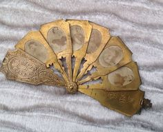 Very Rare Miniature Fan dated 1867 with Royal photos for Fashion Doll