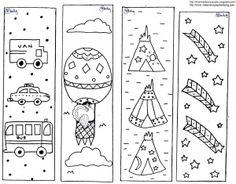 Thanksgiving Coloring Page Bookmarks