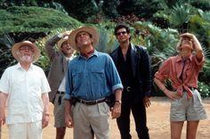 Richard Attenborough, Martin Ferrero, Sam Neill, Jeff Goldblum & Laura Dern in #JurassicPark (1993)