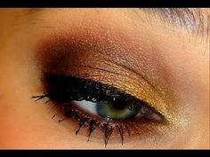 Warm Glowy Fall Makeup.. would definitely use a mascara that doesnt clump so much though