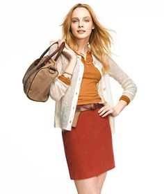 This will complete my fall wardrobe! Madison Mini, Corduroy: SKIRTS   Free Shipping at L.L.Bean Signature