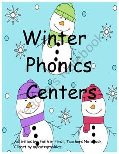 Winter Phonics Centers product from Faith-in-First on TeachersNotebook.com