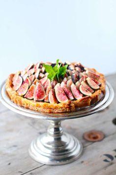 Honey Mascarpone Amaretti Tart with Fresh Figs - The Seaside Baker