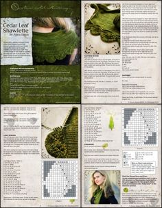 http://nevernotknitting.blogspot.com/2009/11/cedar-leaf-shawlette.html
