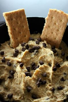 Dessert hummus. It tastes like chocolate chip cookie dough!