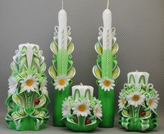 Carved candles - Google Search - etsy.com