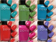 Zoya Summer 2015 Island Fun Collection Swatches
