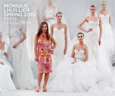 Check out the fabulous new Monique Lhuillier Spring 2015 bridal collection.