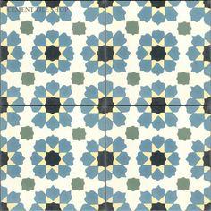 Cement Tile Shop. Moorish. 8x8. $7.90 / tile. Coordinating solid tile $4.60 / tile.
