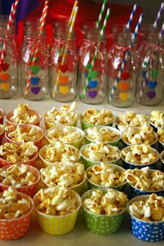 Rainbow themed birthday party - kara's party ideas! decorating ideas, dessert, cake, cupcakes, favors and more! http://www.karaspartyideas.com/2014/04/rainbow-themed-birthday-party.html