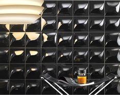Lea Ceramiche 3D tiles...courtesy of a collaboration with (Lenny) Kravitz Design.   Yes, the musician.