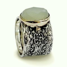 Hey, I found this really awesome Etsy listing at https://www.etsy.com/listing/35059336/wide-ring-sterling-silver-ring-jade-ring