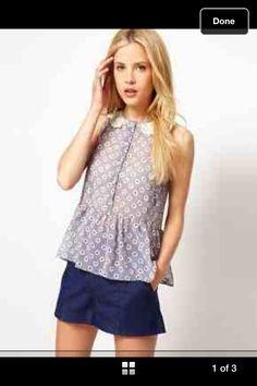 Cute collar pretty formal blouse