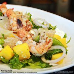 Naiyang Salad at The Andaman Kitchen, Phuket Marriott Resort and Spa, Nai Yang Beach  #photooftheday #Phuketindex #Phuket #Thailand#relax #chill#delicious #food #breakfast #lunch #dinner#aroy #seafood #NaiyangSalad #salad #prawn #shrimp #vegetable #healthy #TheAndamanKitchen #NaiYangBeach #PhuketMarriott_Nai Yang