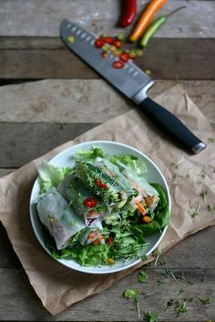 Fresh and light summer rolls made of rice paper