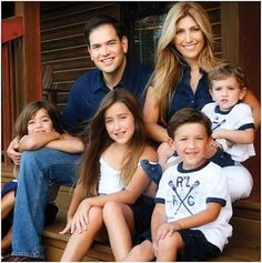 Senator Marco Rubio and family. I like his conservative sensibility, it's good old common sense.