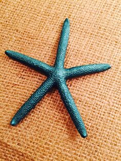 Peacock Teal Color Starfish Ornament, Wedding Decoration, Wedding Favor, Place Cards, Reception Table Decor by LiveLaughLoveOcean on Etsy