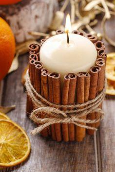 Cinnamon stick candl