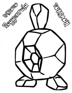 Roggenrola Pokemon Coloring Pages