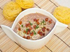 Caldinho de Feij�o com Bacon e Ervas - Veja mais em: http://www.cybercook.com.br/receita-de-caldinho-de-feijao-com-bacon-e-ervas.html?codigo=115476