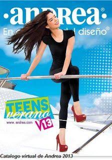 catalogo andrea teens verano 2013, donde tienen una gran variedad de zapatos de moda juvenil