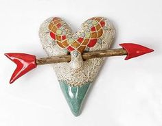 """Little Valentine""  Ceramic Wall Art  Created by Laurie Pollpeter Eskenazi"