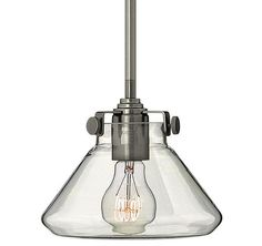 """View the Hinkley Lighting 3136 1 Light 7"""" Height Indoor Mini Pendant with Clear Cone Shade from the Congress Collection at LightingDirect.com."""