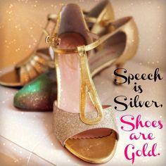 Wir finden: Goldene Schuhe sind ein Beitrag für die Gesundheit! Wann werden sie endlich auf Rezept verschrieben?