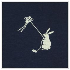8.Cotton Fabric - Rabbit & Kite