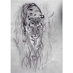 By me 🐯 #draw #byme #tiger #drawingtime