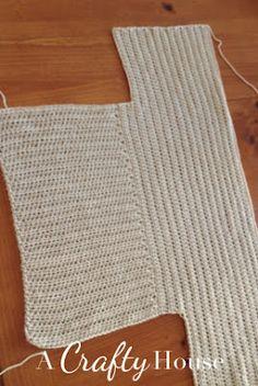 A Crafty House: Knitting and Crochet Patterns and Crafts: Free Dolman Sleeve Crochet Sweater Pattern ✭Teresa Restegui http://www.pinterest.com/teretegui/ ✭