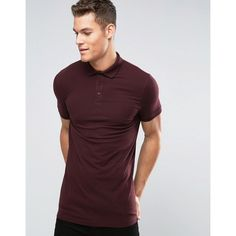 ASOS Longline Muscle Polo Shirt In Oxblood (€14) ❤ liked on Polyvore featuring men's fashion, men's clothing, men's shirts, men's polos, red, mens french cuff shirts, mens polo shirts, mens red shirt, mens fitted shirts and mens longline t shirt